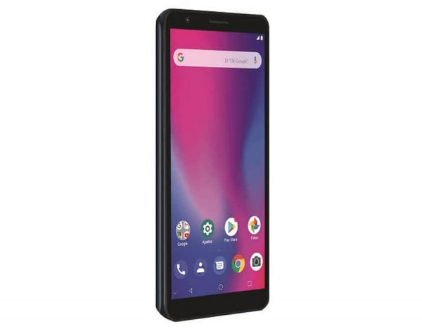ZTE Blade A3 Negro Frente Lateral Gris